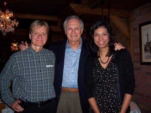 With favorite client Alan Alda and hubby John Burke